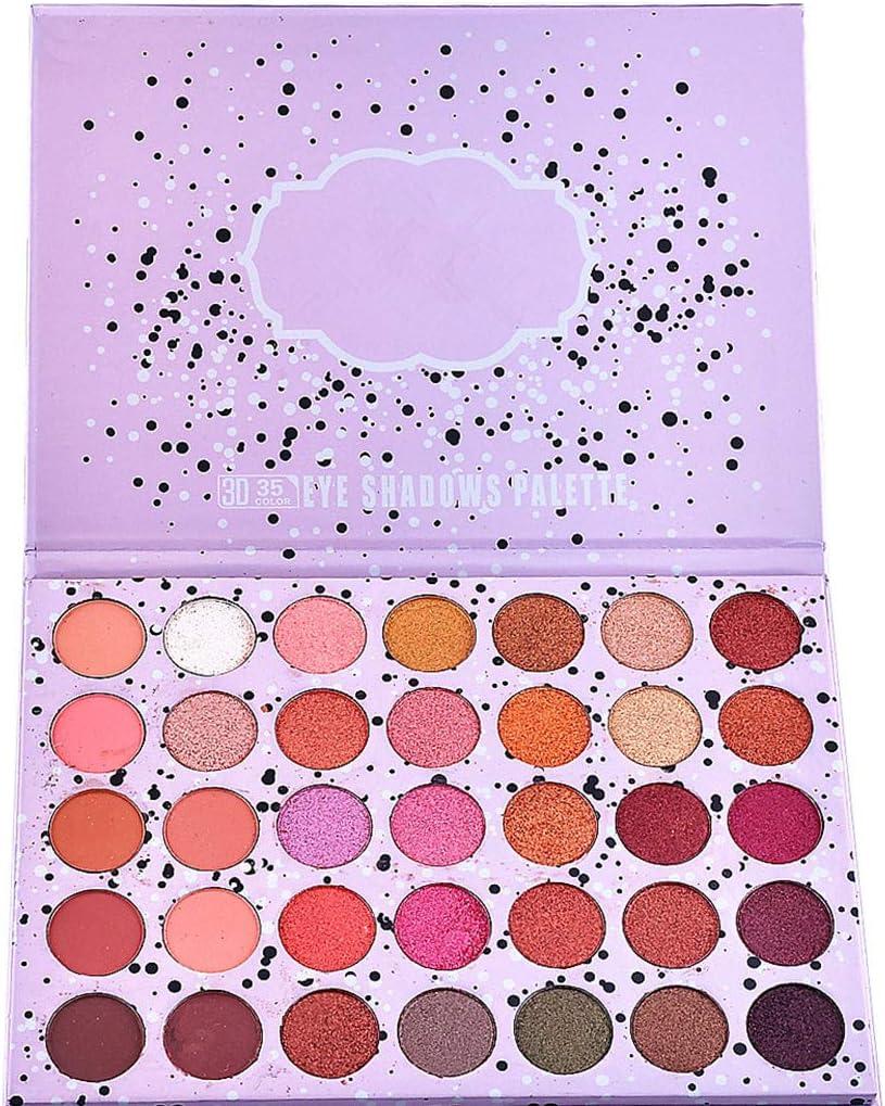 SHSH - Paleta de sombras de ojos, 35 colores, mate, purpurina, purpurina, maquillaje cosmético, sombra de ojos: Amazon.es: Belleza