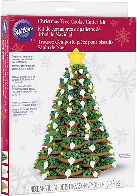 CHRISTMAS TREE Stackable Cookie Cutter Set Wilton Cookie Cutter Tree Kit 10 Tier Christmas Tree Cookie Cutter Easy /& Fun to Decorate!