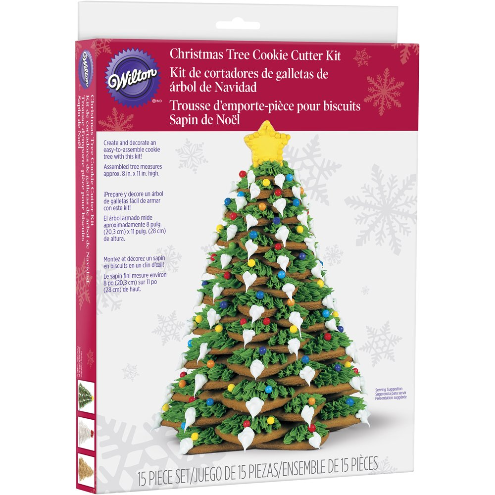 Amazon.com: Wilton Cookie Tree Cutter Kit: Christmas Cookie Cutters ...
