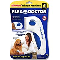 AbCD- All aBout Cats and Dogs New advanced soundless Flea Doctor | Electronic Flea Comb |Electric Comb | Electric Comb for Pets, Dogs, Cats | Without Pesticides | Naturally Kill Tick and Remove Fleas grooms your pet hair and also remove the tangles