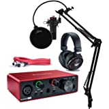 Focusrite Scarlett Solo Studio 3rd Gen USB Audio Interface and Recording Bundle with Microphone, Headphones, XLR Cable…
