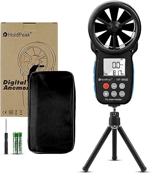 HoldPeak HP-866B Portable Digital Wind Speed Measuring Anemometer Handhel /& Bag