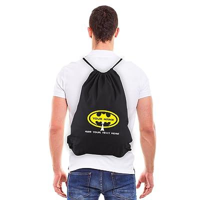 free shipping Grab A Smile Personalized Custom Batman Eco-friendly Reusable Draw String Bag