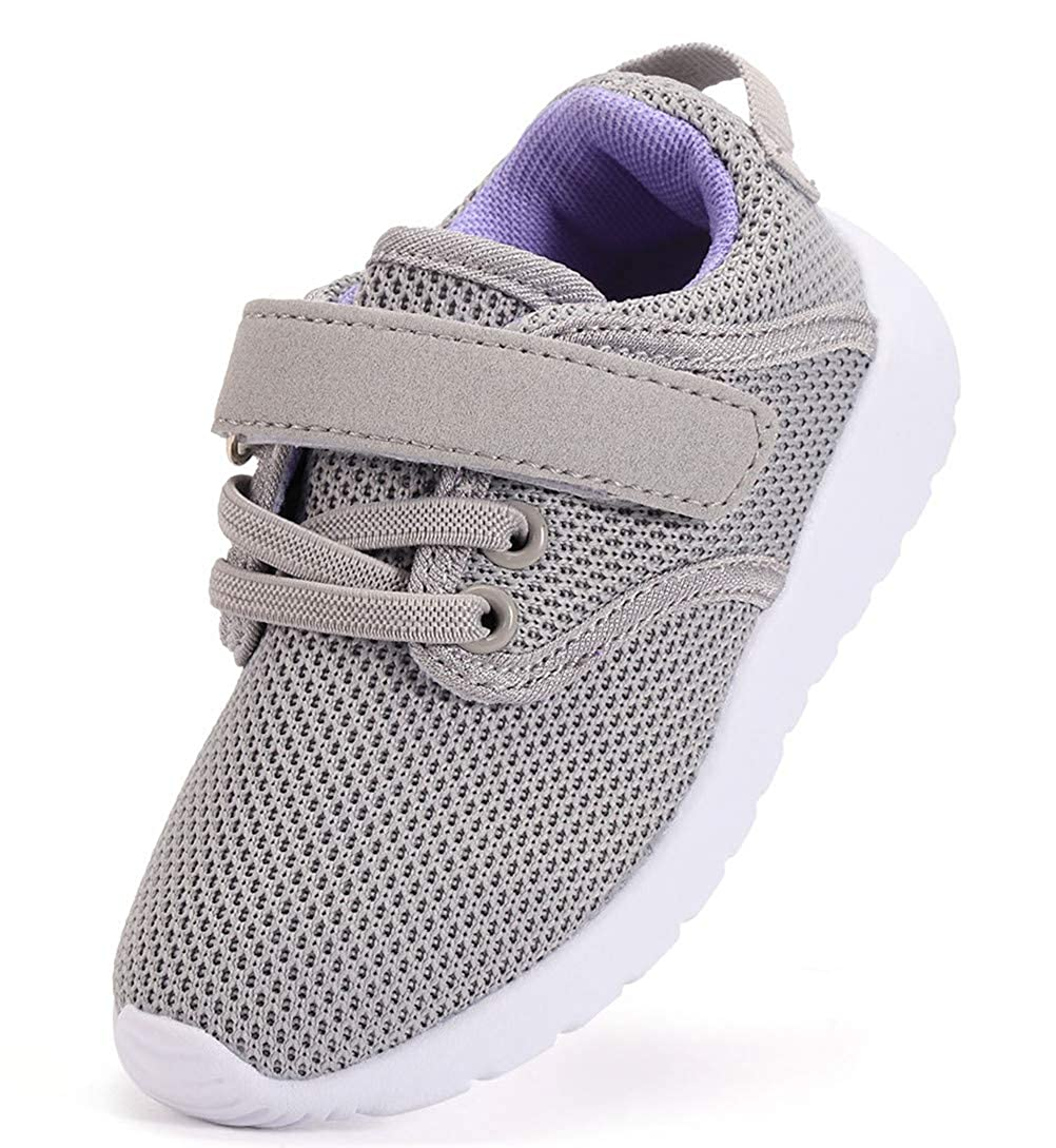 DADAWEN Boy's Girl's Lightweight Sneakers Cute Strap Athletic Running Shoes 10078