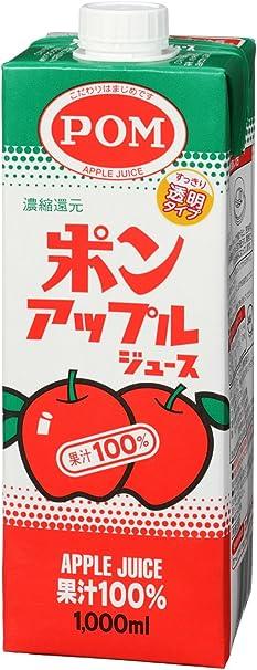POM アップルジュース スクエア 1000ml×6本
