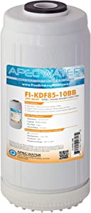 "APEC Water Systems FI-KDF85-10BB US Made Iron and Hydrogen Sulfide Reduction Replacement Water Filter, 4.5""x10"""