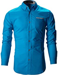 047d7164 FINIVO FASHION Men's Cotton Casual Shirt: Amazon.in: Clothing ...
