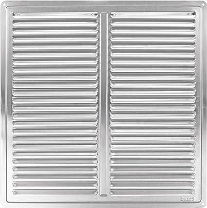 Haco - Rejilla de ventilación (acero inoxidable, 305 x 305 mm)