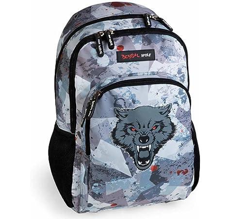 Mochila Escolar Bestial Wolf: Amazon.es: Juguetes y juegos