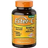 American Health Ester-C with Citrus Bioflavonoids Capsules- 24-Hour Immune Support, Gentle On Stomach, Non-Acidic…