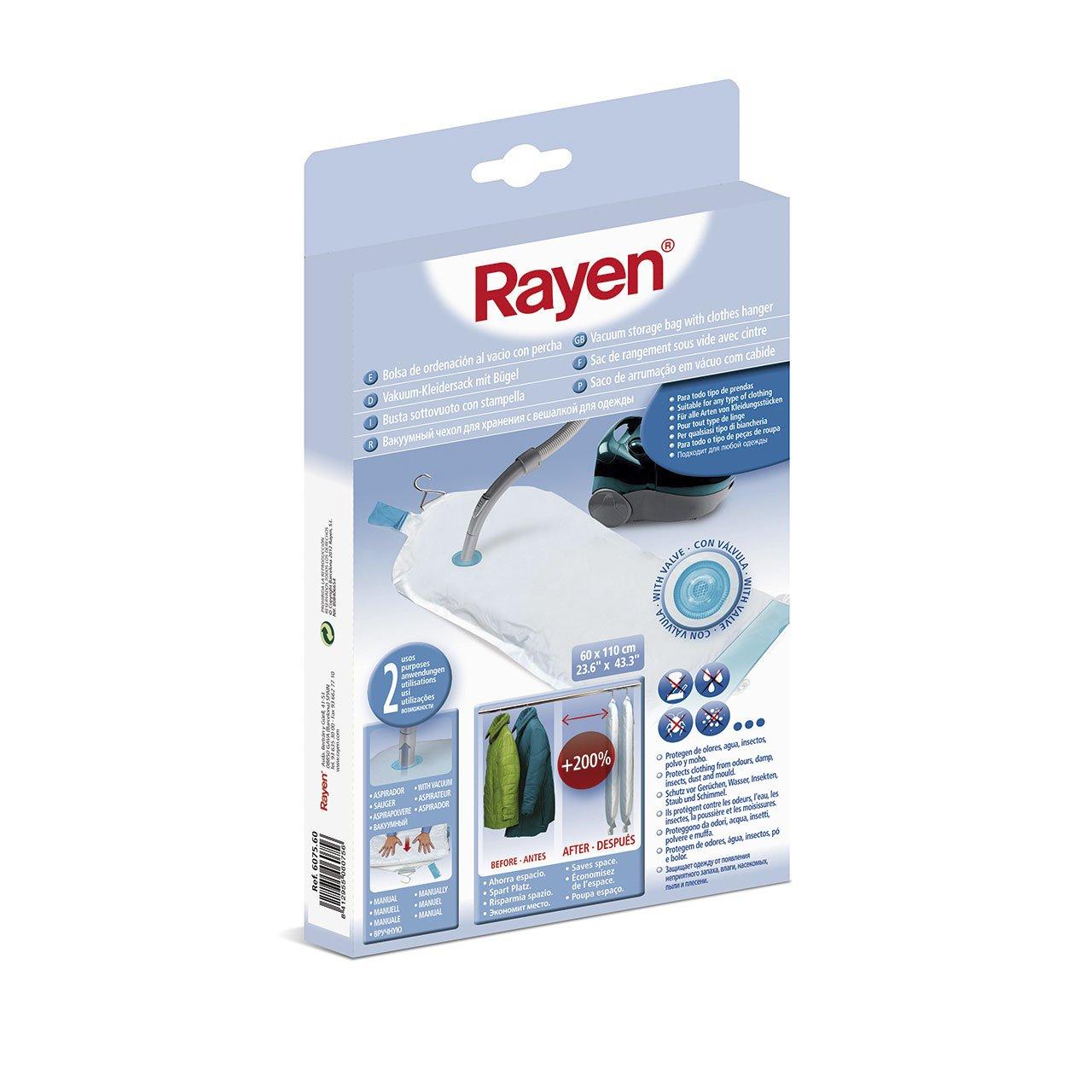Rayen 6027.60 - Bolsa de ropa al vacío ahorrar espacio, de tamaño grande, 90 x 120 cm, material plástico: Amazon.es: Belleza