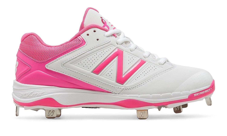 (ニューバランス) New Balance 靴シューズ レディース野球ソフト Low-Cut 4040v1 Pink Ribbon Metal Cleat White with Komen Pink ホワイト ピンク US 8.5 (25.5cm) B01LDYQIXE