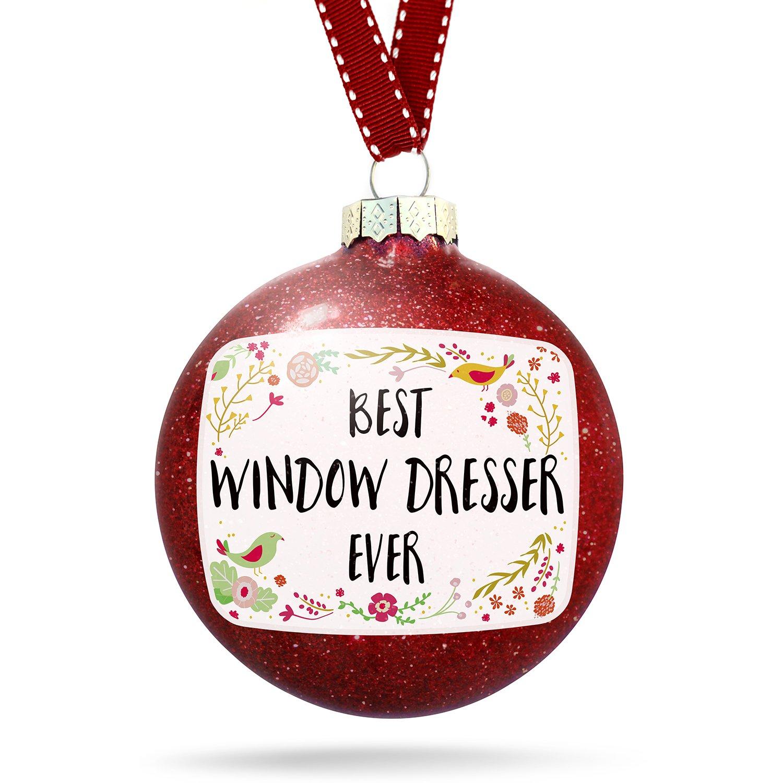 Christmas Decoration Happy Floral Border Window Dresser Ornament