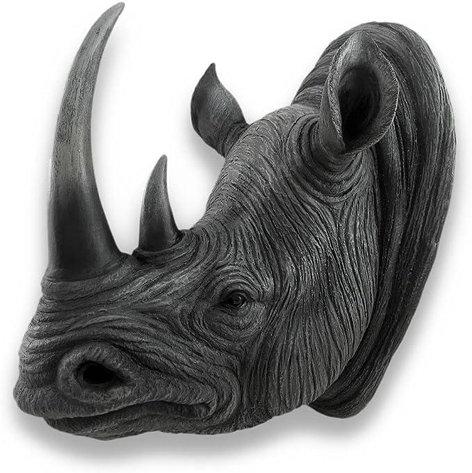 Handmade Genuine Leather Rhino Wall Hanging Trophy Head