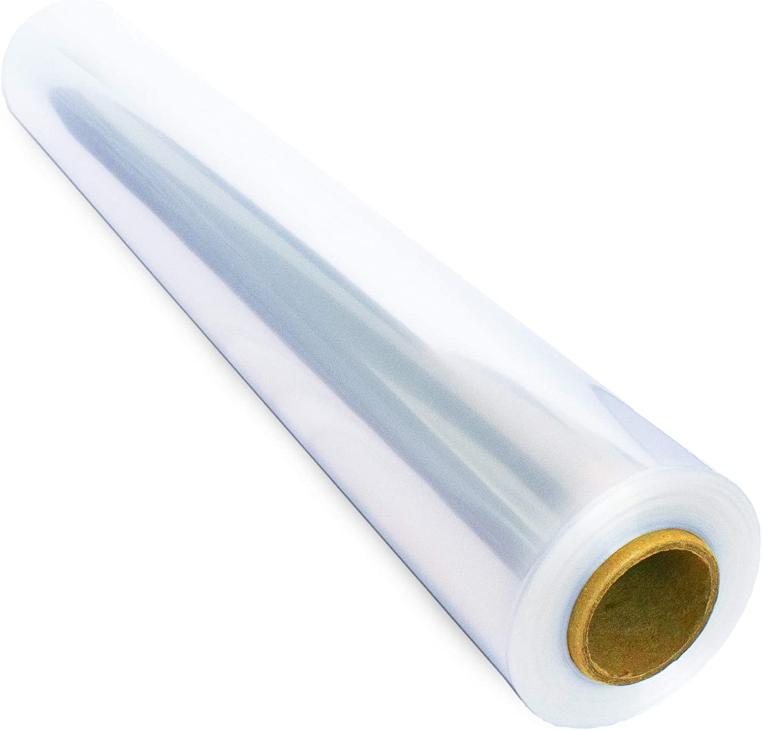 110 ft Clear Cellophane Wrap Roll (31.5 in x 110 ft) - Cellophane Roll - Clear Wrap Cellophane Bags - Clear Wrapping Paper to Wrap Gift Baskets - Clear Gift Wrap - Celophane Basket Wrap - Cello Wrap