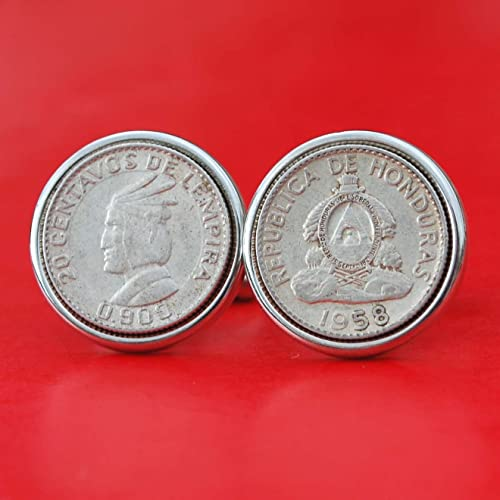 National Arms 1958 Honduras 20 Centavos 90/% Silver Coin Solid Brass Money Clip New