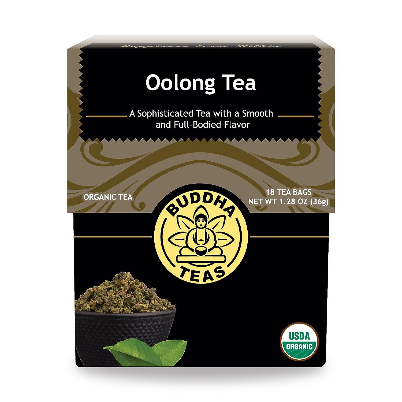 Organic Oolong Tea - Kosher, Contains Caffeine, GMO-Free - 18 Bleach-Free Tea Bags Buddha Teas