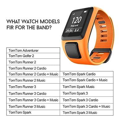 Amazon.com: ANCOOL - Correa de silicona para reloj Tomtom ...