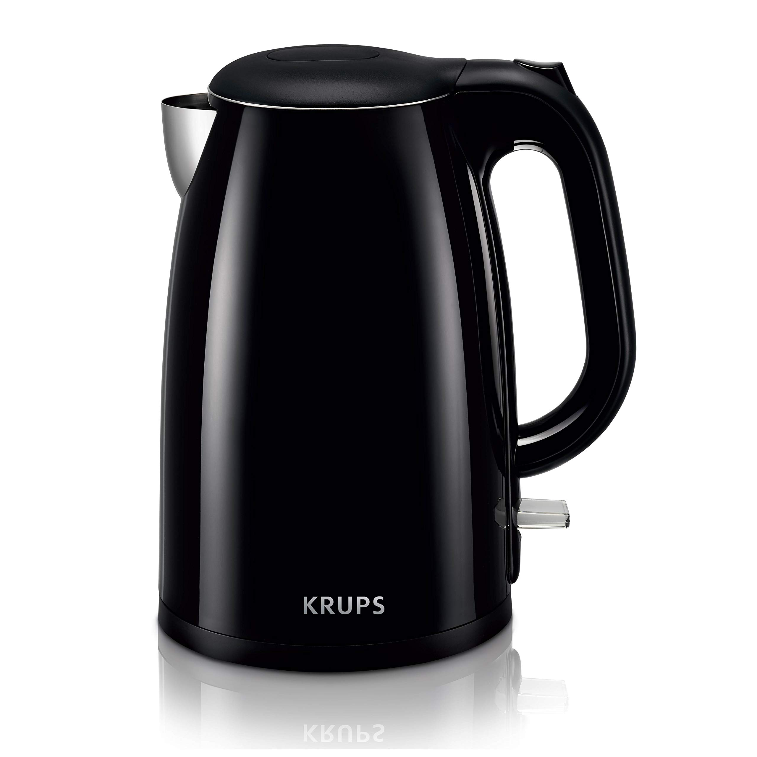 KRUPS BW26 Cool-touch Stainless Steel Double Wall Electric Kettle, 1.5L, Black by KRUPS