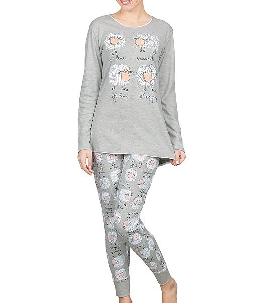 HAPPY PEOPLE - Pijama - para mujer gris Medium