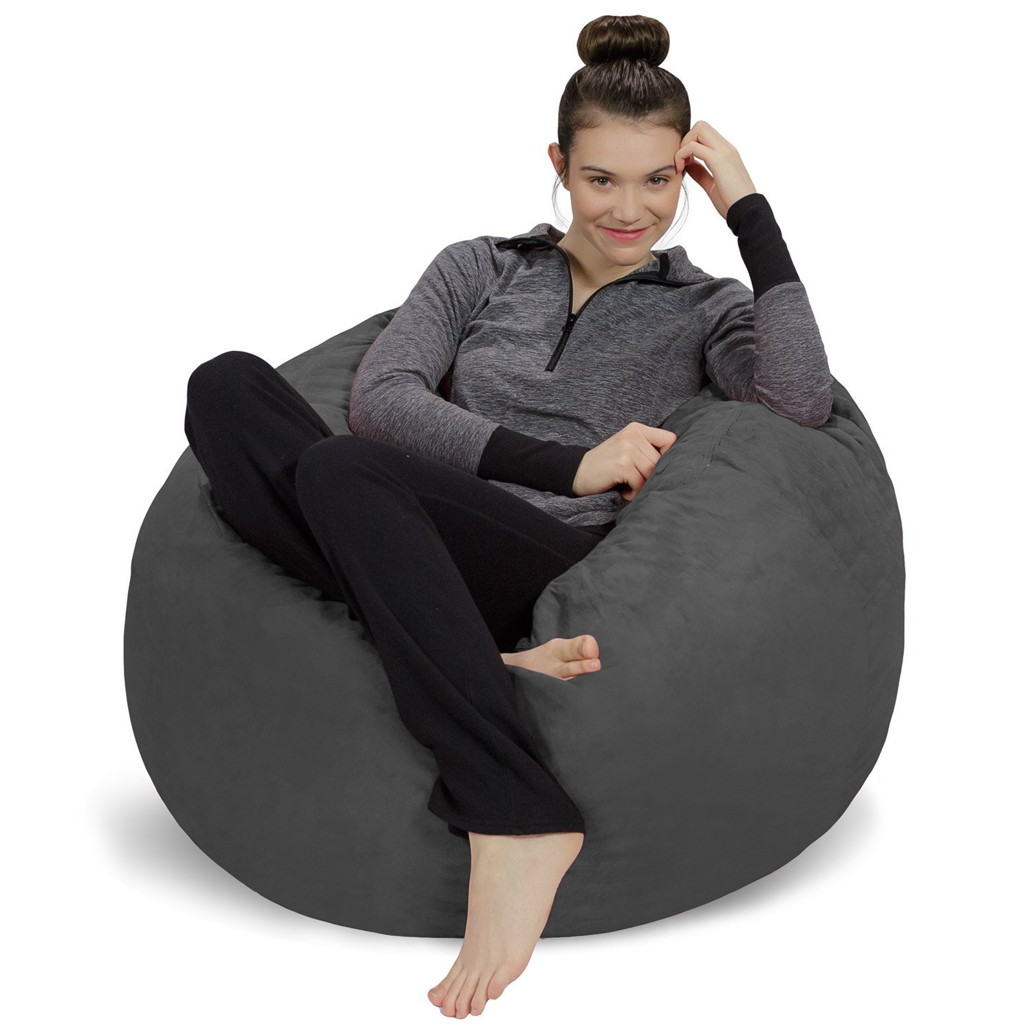 Sofa Sack-Bean BagsBean Bag Chair, 3', Charcoal