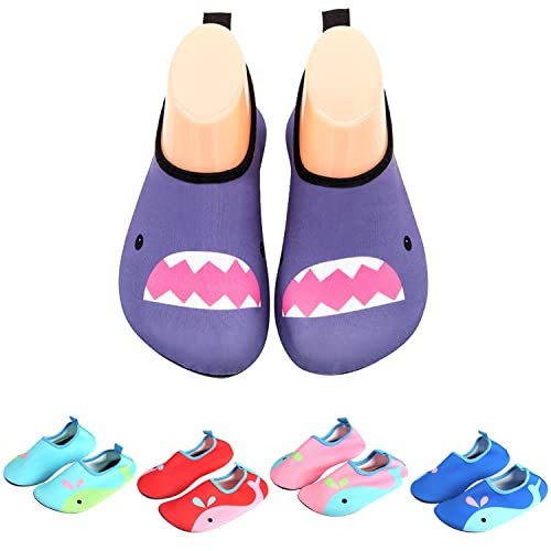 05e58032 Zapatos para Niño Niña Zapatos de Playa Bebe Zapatillas de Piscina  Escarpines Calzado para Agua,Morado 21: Amazon.es: Zapatos y complementos