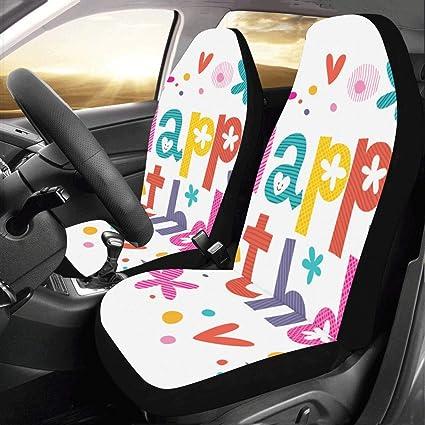 Feliz cumpleaños Aniversario Personalizado Nuevo Auto Fundas ...