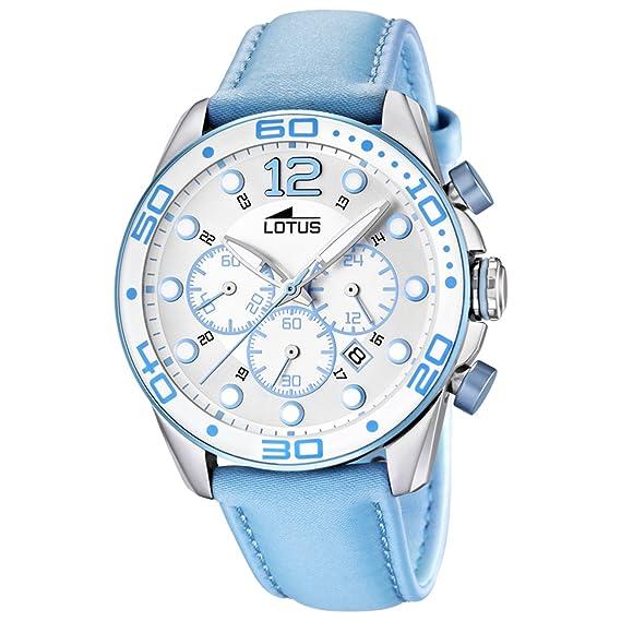 Lotus 15782/4 - Reloj para mujeres, correa de cuero color azul