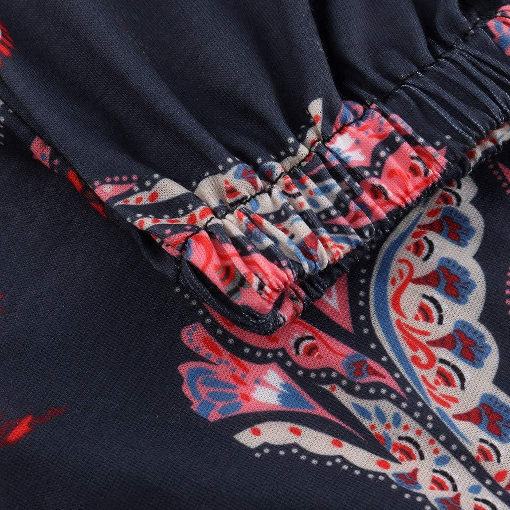 Sttech1 Women Causal Comfy Pants Fashion Bohemia Print Trousers Long Beach Yoga Pants