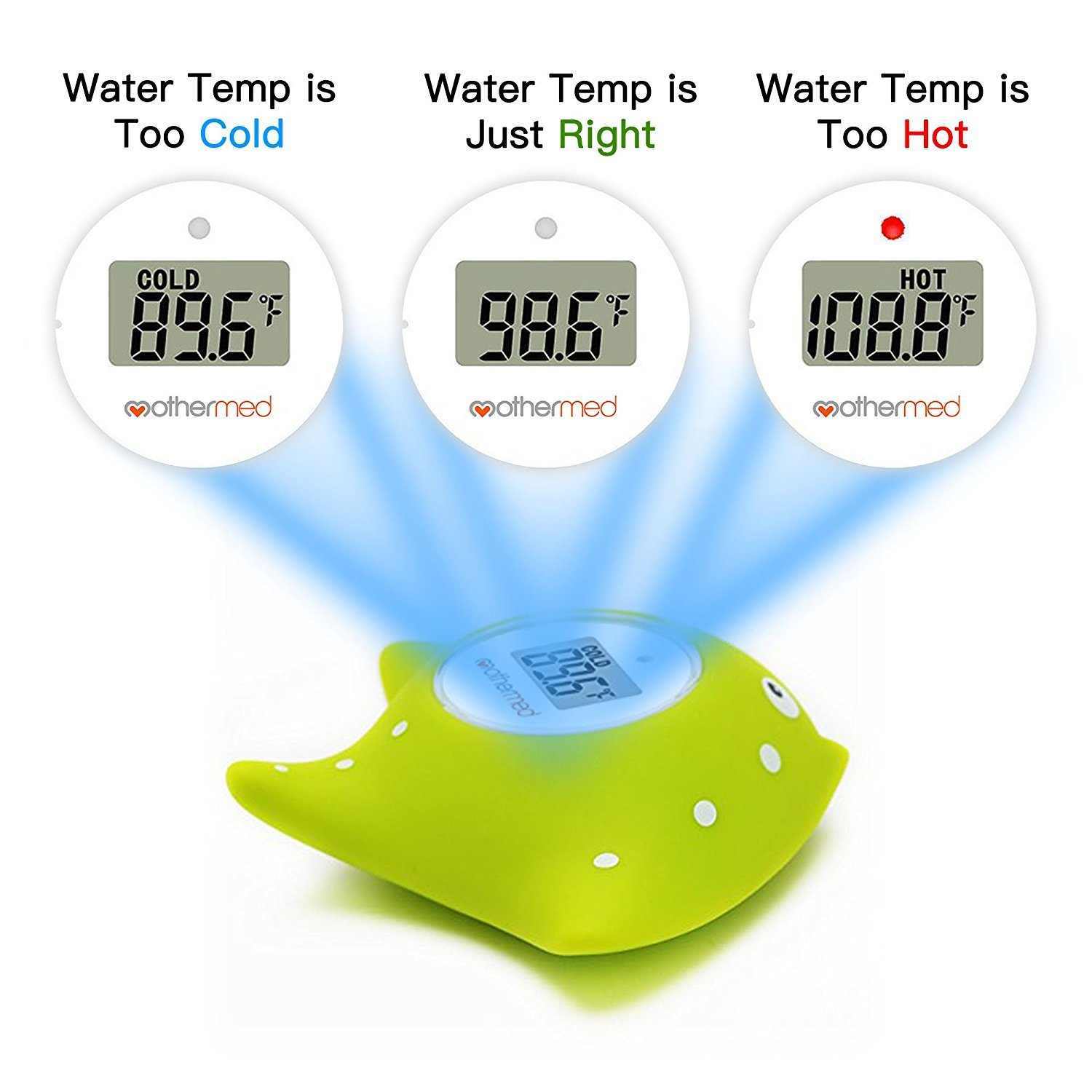 Amazon.com : MotherMed Baby Bath Thermometer and Floating Bath Toy ...