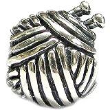 Sterling Silver Knitting Wool Ball Bead for European Charm Bracelets