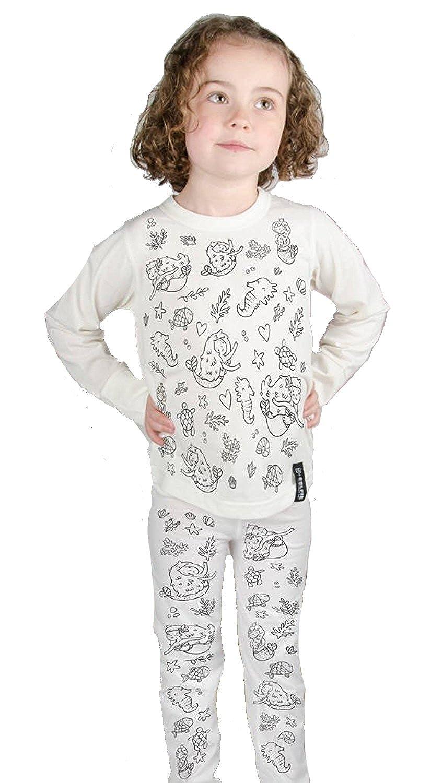 Selfie Clothing Kids Pajamas Mermaid Colour In Pajamas CO.