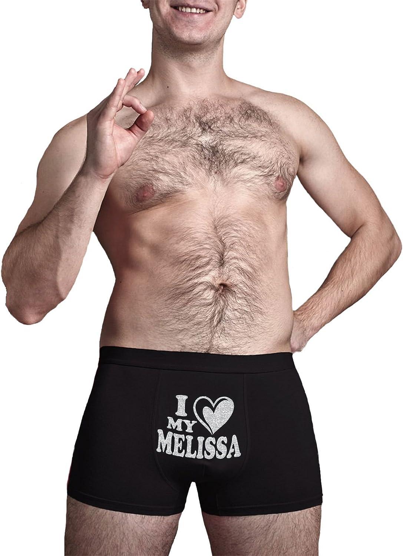 Innovative Gift Herr Plavkin Cool Boxer Briefs Birthday Present Novelty Item. I Love My Melissa