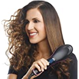 COBRA Hair Electric Comb Brush 3 in 1 Ceramic Fast Hair Straightener For Women's Hair Straightening Brush with LCD Screen, Temperature Control Display,Hair Straightener For Women(Black)