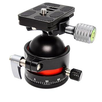 koolehaoda E3 mini cabeza de trípode Cabeza de bola con placa de liberación rápida. Gran