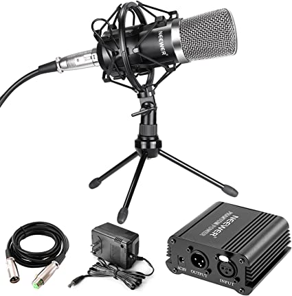 Professional Desktop Broadcast /& Recording Condenser Microphone with Audio Cable