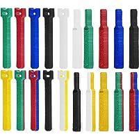 Klittenband kabelbinders, klittenband kabelbinders, 6-kleurige kabelbinders Klittenband, klittenband kabelbinders…