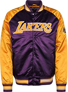 Mitchell   Ness Los Angeles Lakers NBA HWC Tough Season Satin Jacket Bomber  College Jacke c9e3b907a9bf