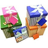 Pilot Imports® Pack of 4 Xmas Present Boxes Nested Oblong Folded Christmas Gift Box