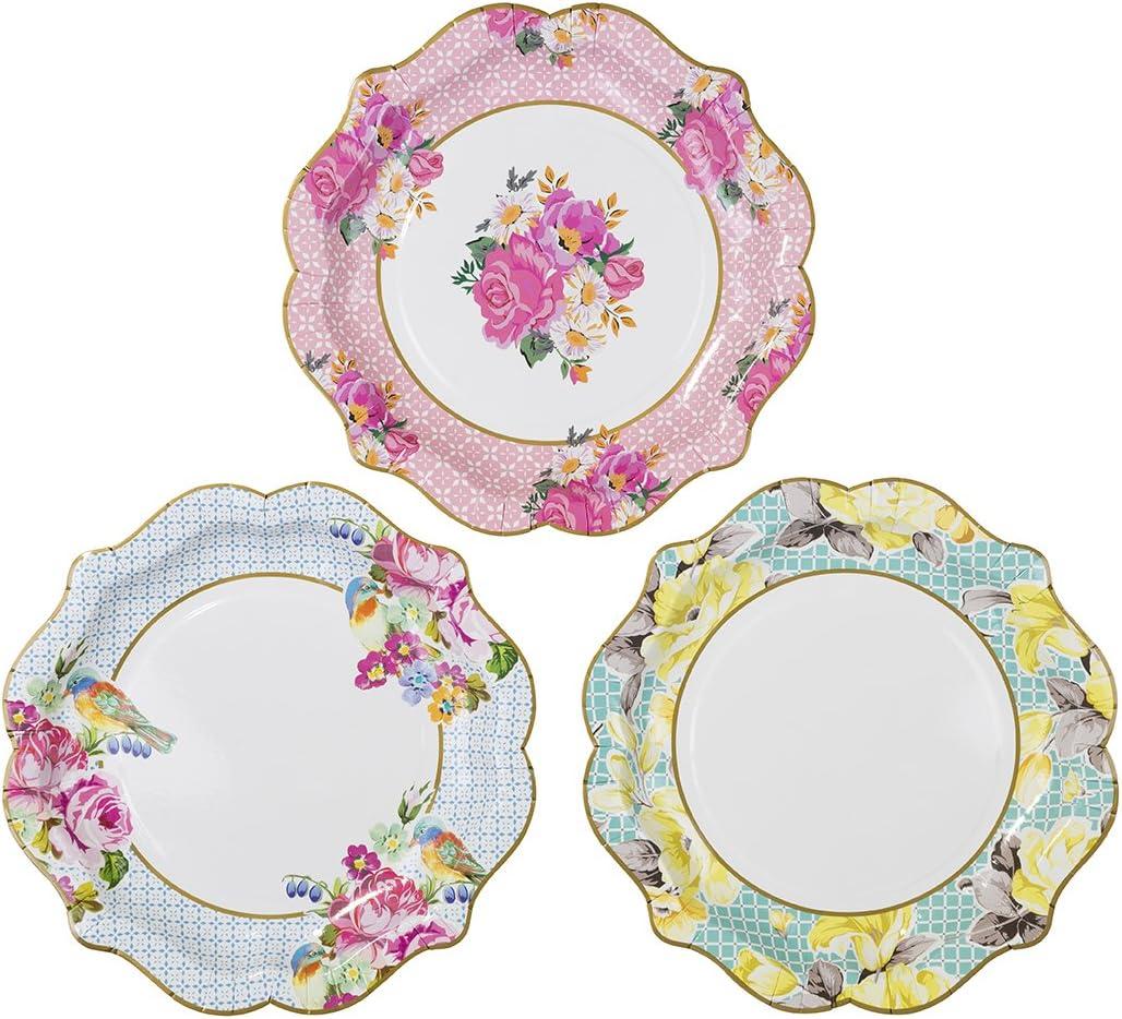 Talking Tables Platos medio con detalles florales
