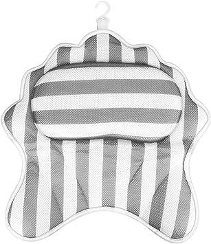 Powcan Oreiller De Bain Coussin De Baignoire Jacuzzi Oreiller De Spa Avec 6 Ventouses Support Pour La Tete La Nuque Et Les Epaules Accessoires De Bain S Attache Fermement A La Baignoire Amazon Fr