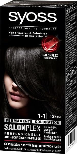 Haarfarbe zu schwarz