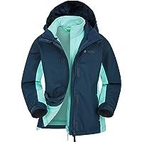Mountain Warehouse Chaqueta Impermeable Lightning Infantil - Triclima, Costuras Selladas - Capucha extraíble y Forro…