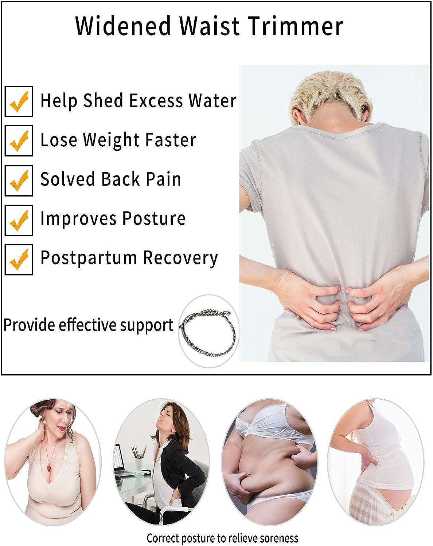 SLIMBELLE Neoprene Sauna Waist Trainer Corset Hot Sweat Belt for Women Weight Loss Trimmer Workout Shaper