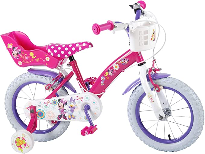 Disney Bicicleta Niña Chica Minnie Mouse 14 Pulgadas Frenos al ...