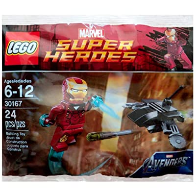 Lego Super Heroes Marvel Iron Man vs. Fighting Drone, Polybag # 30167: Toys & Games