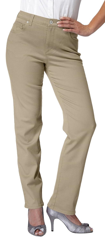 541695ec528 Amazon.com  Gloria Vanderbilt Amanda Style Missy Size 10 Short Straight Leg  Jeans Light Blue  Clothing