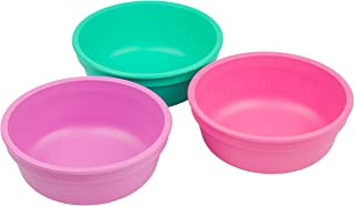 product image for Re-Play Made in USA 3pk 12 oz. Bowls in Aqua, Purple and Bright Pink   Made from Eco Friendly Heavyweight Recycled Milk Jugs and Polypropylene - Virtually Indestructible (Sparkle)