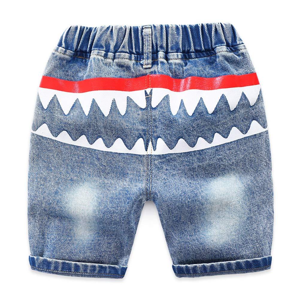 Araus Vaqueros Pantalones Cortos Ninos Bermuda Rota Dibujos Animados De Tiburon Shorts Verano Bebe Ninos De Hasta 24 Meses