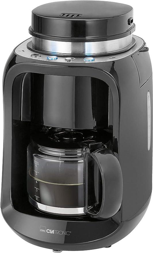 Clatronic KA 3701 Independiente - Cafetera (Independiente, Cafetera de filtro, 0,6 L, Molinillo integrado, 600 W, Negro): Amazon.es: Hogar